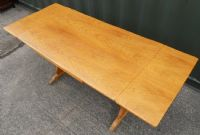Large Light Oak Extending Dining Table to Seat Eight